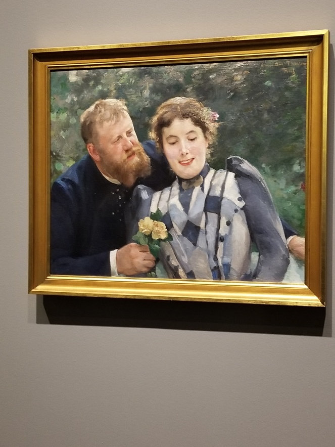 image of Portrait of Thaulow and his wife