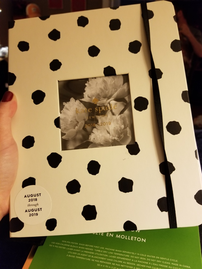 an image of a polka dot Kate Spade planner.