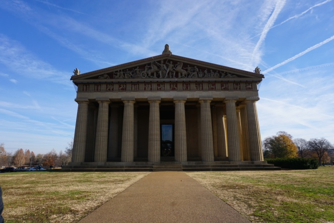 A front view of the Parthenon in Nashville.